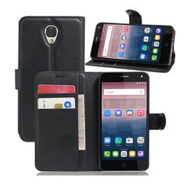 Wholesale Alcatel Mobiles Phones - Alcatel POP 4 High Quality Leather Flip Coque Wallet Case for Alcatel POP 4 Plus Mobile Phone Pouch Cover Fundas Capa Cases Bag