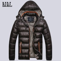 Wholesale Hooded Mens Light Jacket - Wholesale- 2016 Men's Winter Light Down Jackets Hooded Men Warm Thick Coats Mens Cotton-Padded Parka Male Casual Feather Jacket,UMA302