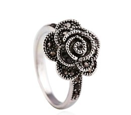 Wholesale Thailand Fashion Rings - 2017 Rushed New Anillos Jewelry Wholesale Fashion Rings 925 For Woman Unique Thailand Retro Compatible With Pandora Charm Name