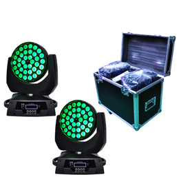 Wholesale Uv Beam - 2XLOT 36*18W RGBWA-UV 6IN1 Zoom Led Moving Head Light Beam Angle Adjustable by Flight case|Road case|Rack case