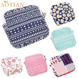 Wholesale Grey Napkins - Wholesale- AOTIAN Women Girl Cute Sanitary Pad Organizer Holder Napkin Towel Convenience Bags d8