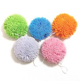 Wholesale Bathing Bath - Wholesale-Candy Color Natural Bath Ball Soft Comfortable Bath Sponge Easy Cleaning Bath Flower microfiber Mesh Bathes bathroom sets