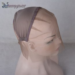 Wholesale Lace Weaving Cap - wig cap for sewing hair weave free shipping full lace wig cap with adjustable strap at back Sunnygrace