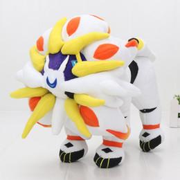 regalo de la felpa del anime Rebajas 30cm Anime Movie Pikachu Series Solgaleo Peluche Solgaleo Cosmoem Muñeca de peluche para niños regalo de navidad