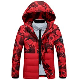 Wholesale military hooded parka - Fashion camouflage parkas men military medium-long winter coat men thickening Velvet winter jacket men with Badges Without Shirt