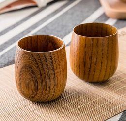 2019 chá japonês canecas Xícara De Chá De madeira Estilo Japonês Handmade Copos De Madeira Vinho Canecas Drinkware Seguro Não-tóxico E Saudável Cozinha Ferramentas Presente chá japonês canecas barato