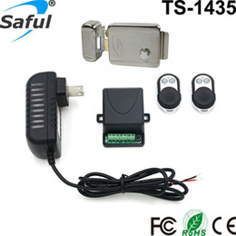 Wholesale Electronic Remote Lock - Wholesale- Electronic door entry lock 12V stainless steel electric lock access control system with remote control