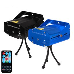 Wholesale xmas lights for sale - Hot Sale IRC 150mW RG Mini Laser Projector Stage Laser Light Party Min Laser Light With Remote Control For Xmas Holiday