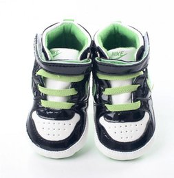 Wholesale Newborn Baby Boy Soft Shoes - 0-18M Baby soft leather children boy girl soft soles PU sports shoes toddler newborn shoes