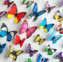 2019 статические настенные наклейки Новые бабочки бабочки бабочки 3d бабочки 3d бабочки 3d бабочки 3d бабочки 3d бабочки съемные стикеры бабочки