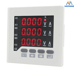 Wholesale Digital Supply Voltage - ME-3UIF63 72*72 mm Power supply AC 220V three phase current voltage digital combined meter in China