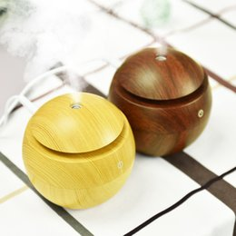 Wholesale Wooden Aroma Diffuser - HOT Mist Maker Aroma Essential Oil Diffuser Ultrasonic Aroma Humidifier Mini Portable Light Wooden USB Diffuser For Home Office