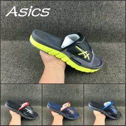 Argentina 2019 Comercio al por mayor Asics Zapatillas Zapatos Hombre Mujer Zapatos Nuevo Color Original Negro Azul Sandalias Sport Zapatillas de deporte con descuento interior 37-45 supplier women new blue sandals shoes Suministro