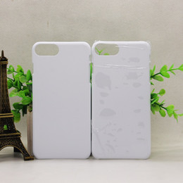 Wholesale 3d Sublimation Phone Cases Blanks - 3D Blank sublimation cell phone Case cover Full Area Printed For apple iphone 5 5s se 6 6s 6s plus 7 7 plus galaxy s6 s7 s8 edge plus