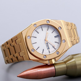 Wholesale Display Relojes - 2017 Hot Famous Men watch Big Dial Day Date Display AAA Luxury Watches Stainless Steel Band Top Brand Quartz Wristwatches for men relojes
