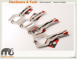 Wholesale Heavy Swivels - 6in  150mm Heavy Duty Cr-V C Clamp Welding Vice Locking Pliers Swivel Pad