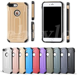 Wholesale Military Hard Case - Defender Hybrid TPU+PC Armor Case Dual Layered Anti-Shock Hard Cases Shockproof Back Cover Military Protection For Iphone 6 6s 7 Plus 5S