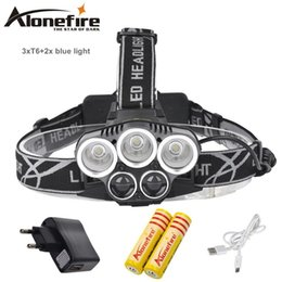 Wholesale Head Lamp Camping - AloneFire HP26 8000LM 5mode xml-t6 led Rechargeable Headlight Outdoor Camping Hunting Fishing Head Lamp