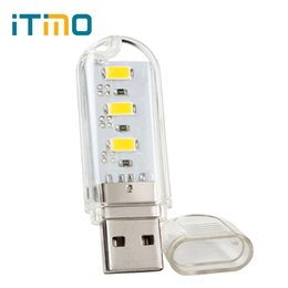 Wholesale Computer Emergency - Wholesale- 1pcs Highlight USB Port LED Night Light for Computer Laptop PC Small USB Charging Light Mobile Power Reading Lamps