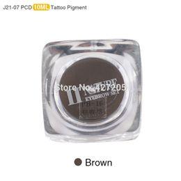 Wholesale New Permanent Makeup Set - Wholesale-New PCD Permanent Makeup Ink Lip Tattoo Ink Set Eyebrow Microblading Pigment Professional Encre A Levre 10ML 3PCS Brown J21