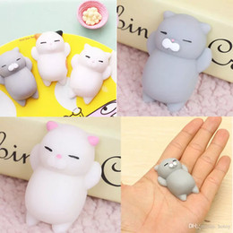 Wholesale Diy Toys For Kids - 1 Pcs Free Shipping Reduce Toy Kawaii Original Japan Lazy Cat Mochi Squishy Squeeze Cat Toy Mini Gifts for Kids Phone DIY Accessoires