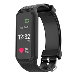 Wholesale Tft Lcd Android - 2017 New L38I Bluetooth 4.0 Smart Band Heart Rate Monitor Full Color TFT-LCD Screen Smartband Fitness Tracker Wirstband for IOS Android