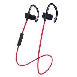 Tipos de auriculares online-Deportes V4.1 Auriculares Bluetooth Tipo de gancho para oreja inalámbrico Auriculares estéreo Auriculares en la oreja con control de volumen de micrófono Para correr Runing Viajar