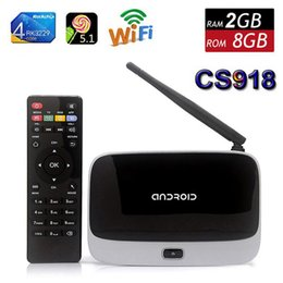 Wholesale Cs918 Android Tv - 2GB 8GB Q7 Installed Bluetooth RK3229 Quad Core Android 5.1 Mini PC CS918 Google Smart TV BOX MK888B T-R42 WIFI Airplay Miracast