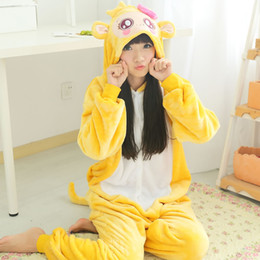 Wholesale Monkey Kigurumi - Women Fashion Adult Onesie Pyjamas Flannel Monkey Warm Sleepwear Kigurumi Pajama Cosplay Costumes Animal Sleepwear Robe & Loungewear