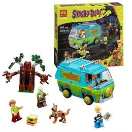 Wholesale Bela Scooby Doo the Mystery Machine Bus Building Block Set Fred Shaggy Zombie Kids Toy with box