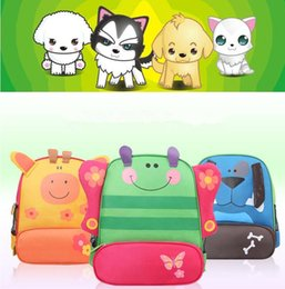 Wholesale Satchel Bags Owl - Kids Backpack Bags Schoolbag Shoulder Bag cartoon owl dog tiger animals backpack hand bags kids school bags baby kids satchel bag KKA1957