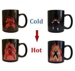 Wholesale Eco Z - Free Shipping Dragon Ball Z Coffee Mug Goku Vegeta Heat Reactive Color Changing Cup Change Ceramic Caneca Cups Novelty Mugs Gift