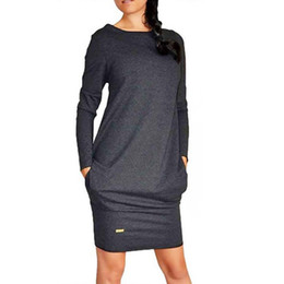 Wholesale Sexy Club Jumpers - Wholesale- Sexy Women Long Sleeve Warm Bodycon Dress Sweatshirt Party Short Mini Jumper Dresses Hot 2016