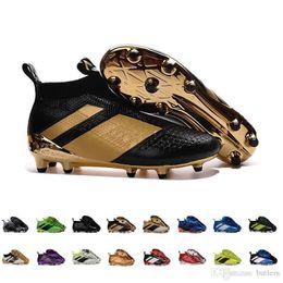 Wholesale Top Shoes For Cheap Online - 2017 ACE 16+ PureControl FG Cheap Soccer Shoes Men Shoes Online For Sale Stellar Pack Soccer Cleats Top Quality Socks Shoes EUR39-45