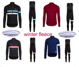 Wholesale Winter Cycling Fleece - 2017 Team Rapha cycling jersey sets Winter Thermal Fleece Tour de France Bisiklet wear bike maillot ropa ciclismo Bicycle MTB clothes