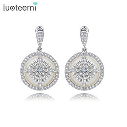 Wholesale gray pearl earrings dangle - New Arrival Noble Special Design Imitation Pearl Drop Earrings Fashion Delicate Dangle Brincos Jewelry For Women Wedding Gift LUOTEEMI