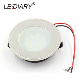 Wholesale Jewelry Cabinet Lighting - Wholesale- LEDIARY 2W Mini Downlights Stainless Steel Round Lamp For Cabinet Wine Jewelry Display Lighting 220-240V Warm Cold White