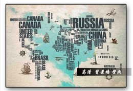 Wholesale map japan - High end custom 3d wall murals wallpaper beauty Retro Nostalgic Hand-painted alphabet map background wall murals living room wall decoration