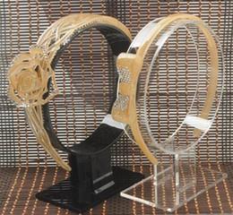 Подставки для оголовья онлайн-Бутик 2шт магазин дисплей стенд акриловые держатель hairband оголовье шпилька волос Хооп ювелирные изделия дисплей стойки витрина для наушников бесплатная доставка