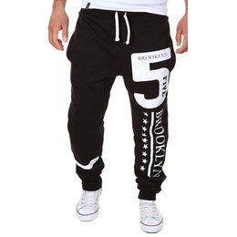 Wholesale Leisure Harem Pants Men - Wholesale-2016 New Style Men Harem Pants Fashion Loose Letters Printed Pattern Long Leisure Men's Trouser M-XXL