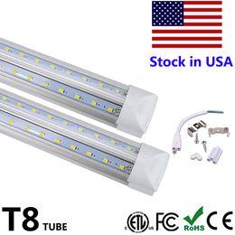 L'illuminazione del tubo principale online-A forma di V Integra T8 LED 2 LED lampada fluorescente 4 5 6 8 piedi 8ft 4ft 4rows LED tubi luminosi raffreddamento portello Illuminazione
