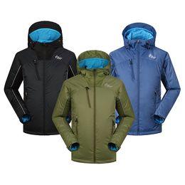 Wholesale Outdoor Army Jackets - Vihir Mens Outdoor Winter Jackets Hiking Waterproof Hooded Pullover Mens Windbreaker Jacket S-XXL for Camping Sports