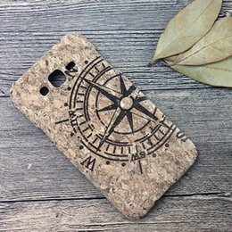 Wholesale Engraved Customized - Luxury Cork Wood Case for Huawei for Samsung Galaxy J7 Laser engraved Mobile Cover Shell Cell Phone Protector Cases Coque Capa