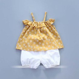 Wholesale Baby Floral Harem Pants - Everweekend Girls Summer Outfits Floral Tees and Harem Pants 2pcs Sets Western Fashion Cute Baby Clothing