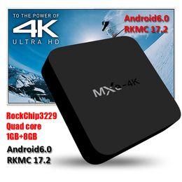 Wholesale Hdmi Lan - 2018 rkmc17.2 fully loaded Stream 4K TV Box Quad core WiFi Lan Smart Rockchip RK3229 Android TV Box MXQ 4K DHL Free Ship