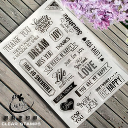 Wholesale Stamping Scrapbook - Wholesale- Scrapbook DIY photo cards account rubber stamp finished transparent chapter Miss you 11*16