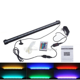 Wholesale V V IP68 RGB LED Fish Tank Lights cm cm cm cm cm cm cm Bubble LED Aquarium Light quot tubes Adapter