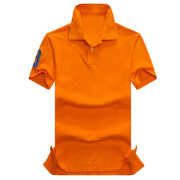 Wholesale Organic Lavender - 2017 new high quality Summer Hot Sale Polo Shirt USA American Flag Brand Polos Men Short Sleeve Sport Polo 309# Man Coat Drop Free Shipping