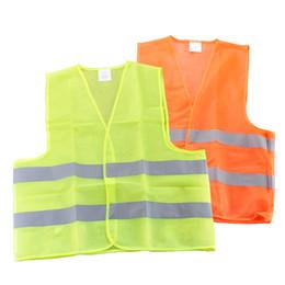 Wholesale Uniforms Dhl - 50pcs Free DHL High Visibility Security Safety Vest Jacket Reflective Strips Work Wear Uniforms Clothing