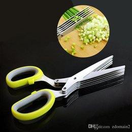 Wholesale Chinese Onions - Hot Sale Multifunction Kitchen Stainless Steel Knives Scissor Spices Chopped Green Onion Cut Paper Shredder Scissors Tool